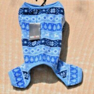 Bailey & Bella Companion Couture - Blue Fleece Pajamas (Pet/Dog) XS