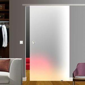 Soft Stop SlimLine Glas Schiebetür weiß 775x2050 mm BV775WT#26319-1