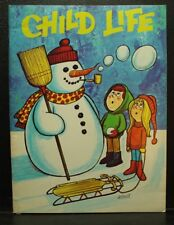 vintage old Child Life book magazine January 1972 Snowman smoking  cover