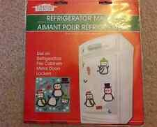 Christmas Refrigerator Penguin Snow Gifts Magnet Set Holiday Winter Vinyl Decor