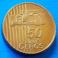 Switzerland 50 euro cent 2003 UNC Formula 1 Car Formula One F1 Essai Probe