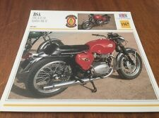 Fiche moto collection Atlas motorcycle BSA 650 A65 SS Spitfire MKII 1967