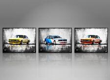 3x Bilder BMW 635 Auto Oltomer Leinwand Motorsport Wandbild Kunstdruck 786A