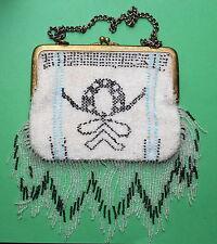 Old Handbag, Glass Beads um 1930 Art Deco