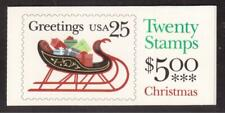 USA 1989 COMPLETE BOOKLET OF 20 STAMPS #2429, CHRISTMAS !!  E94