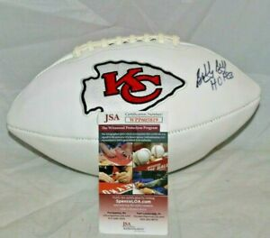Bobby Bell Autographed Signed Kansas City Chiefs White Panel NFL Football JSA