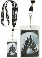 Divergent Movie Black Dauntless Fire Seal ID Holder Neck Strap Lanyard NECA NEW