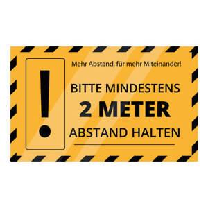 """5x  Bodenaufkleber rutschfest R9 zertifiziert - """"Abstand halten 2m"""""""