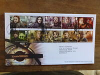 GREAT BRITAIN 2018 GAME OF THRONES SET 10 STAMPS FDC- EDINBURGH