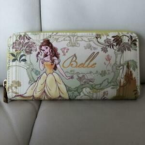 Disney Long Wallet Belle Round Zipper Beauty and the Beast Princess Present