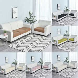 1/2/3/4 Seaters Solid Sofa Seat Cushion Cover Furniture Protector Slipcover Home