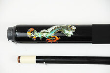 Silver/ Green Lions Pool Cue, Billiards Custom Graphite Cue FREE BILLIARD GLOVE