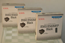 Genuine Xerox Solid Ink 8560 8560MFP Black 3 Boxes 18 Sticks 108R00727