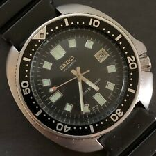 1974 Seiko Vintage 2nd UEMURA Model #6105-8110, Cal.#6105B, Divers, Missing Dot.