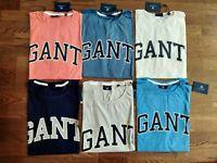 GANT OUTLINE SS T SHIRT, Round Neck, 100% Cotton, Summer Original T-shirt