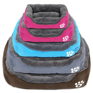 Paw Print Pet Bed Warm Cotton Kennel For Small Medium Large Dogs Washable House