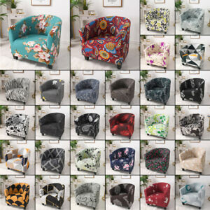 Colorful Stretch Flower Leaves Sofa Cover Tub Chair Cover Furniture Protector