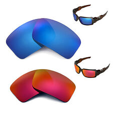 Walleva Polarized Fire Red + Ice Blue Replacement Lenses 4 Oakley Oil Drum II