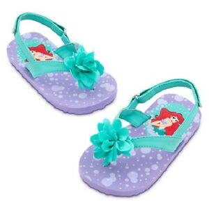 ARIEL BoW~InFant~FLIP FLOPS with HEEL STRAP~12M-18M + 2yr~NWT~Disney baby Store