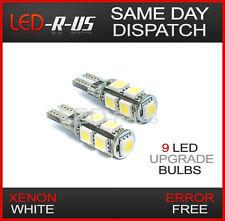 XENON WHITE 9 LED SIDELIGHT BULBS ERROR FREE CANBUS 2827 T10 168 501 W5W