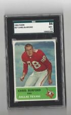 1962 Fleer Chris Burford #27 SCG 86 near mint+