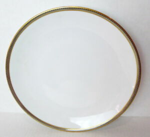 Hutschenreuther White Dinner Plate Gold Trim Germany 1814