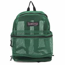 Clear See Through Mesh net Backpack Green> BookBag>Sports Gym >Travel Day Pack!!