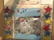 Shower Curtain + Star Hooks * Outerspace astronauts * New Laura Ashley