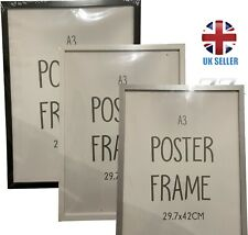 A3 Photo Picture Frame Maxi Poster Frame Black Silver White free post 29.7x42cm