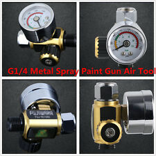 Car G1/4 Metal Spray Paint Gun Air Pressure Gauge Regulator Spray Gun 0-0.10Mpa
