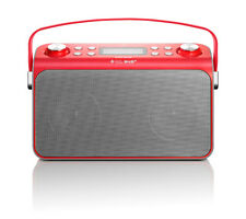 Lenco Lucille Radio DAB UKW Bluetoot NFC rot