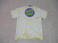 Santa Cruz Shirt Adult Medium Yellow Purple Skater Skateboard Streetwear Mens *
