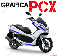 STICKERS KIT DECAL HONDA PCX 125 150 RACING FAIRINGS BLUE GRAPHIC