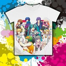 Anime Vocaloid Miku All Staffs Kaito Casual Unisex T-shirt Costume Tee Tops DIY
