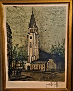 Bernard Buffet Lithograph Saint Germaine Des Pres 63/150 MINT L/E S/N Framed
