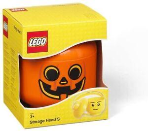LEGO PUMPKIN STORAGE HEAD SMALL BOYS BRAND NEW IN BOX FREE P&P HALLOWEEN