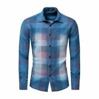 New Luxury Casual Fashion Dress Shirts Slim Fit Casual Stylish Mens Long Sleeve