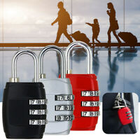 3 Digit Combination Padlock Black Number Luggage Travel Accessories Code Locks