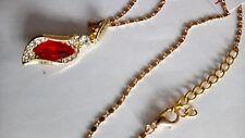 Red austrian crystal 18k rose gold plated, necklace, bracelet & earring set