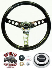 "1968-1969 Valiant steering wheel PLYMOUTH 13 1/2"" GLOSSY GRIP steering wheel"