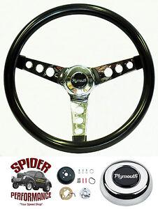 "1968-1969 Valiant steering wheel PLYMOUTH 13 1/2"" GLOSSY GRIP"