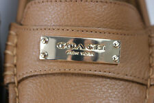 NIB COACH Size 7.5 Women's Ginger 100% Pebble Grain Leather FREDRICA Flat Loafer