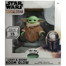 Baby Yoda Star Wars Mandalorian Light Sound Room Glow Nightlight New In Box