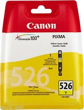 Genuine Canon CLI-526Y Yellow Ink Cartridge Pixma MG5250 MG5300 MG5320 MG5350