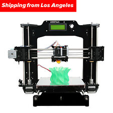 GEEETECH Updated Full Acrylic Reprap Prusa i3 X 3D Printer LCD2004, No Tax in US