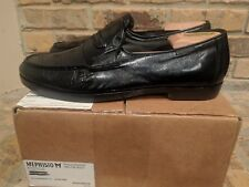 MEPHISTO  MENS BLACK LEATHER LOAFER SHOES 10.5 M  $300