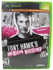 TONY HAWK'S AMERICAN WASTELAND - XBOX W/CASE and Inserts