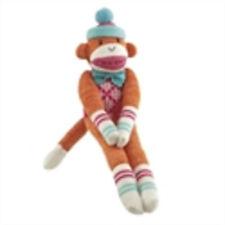 NEW  interactive KARLEE  cbk midwest  sm  orange  monkeez sock monkey