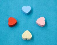 Perle Coeur Attache Tetine en Bois Couleur au Choix 2cm