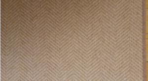100% Wool Flatweave Herringbone Stair Runner Natural Neutral Beige 8.4m x 64cm
